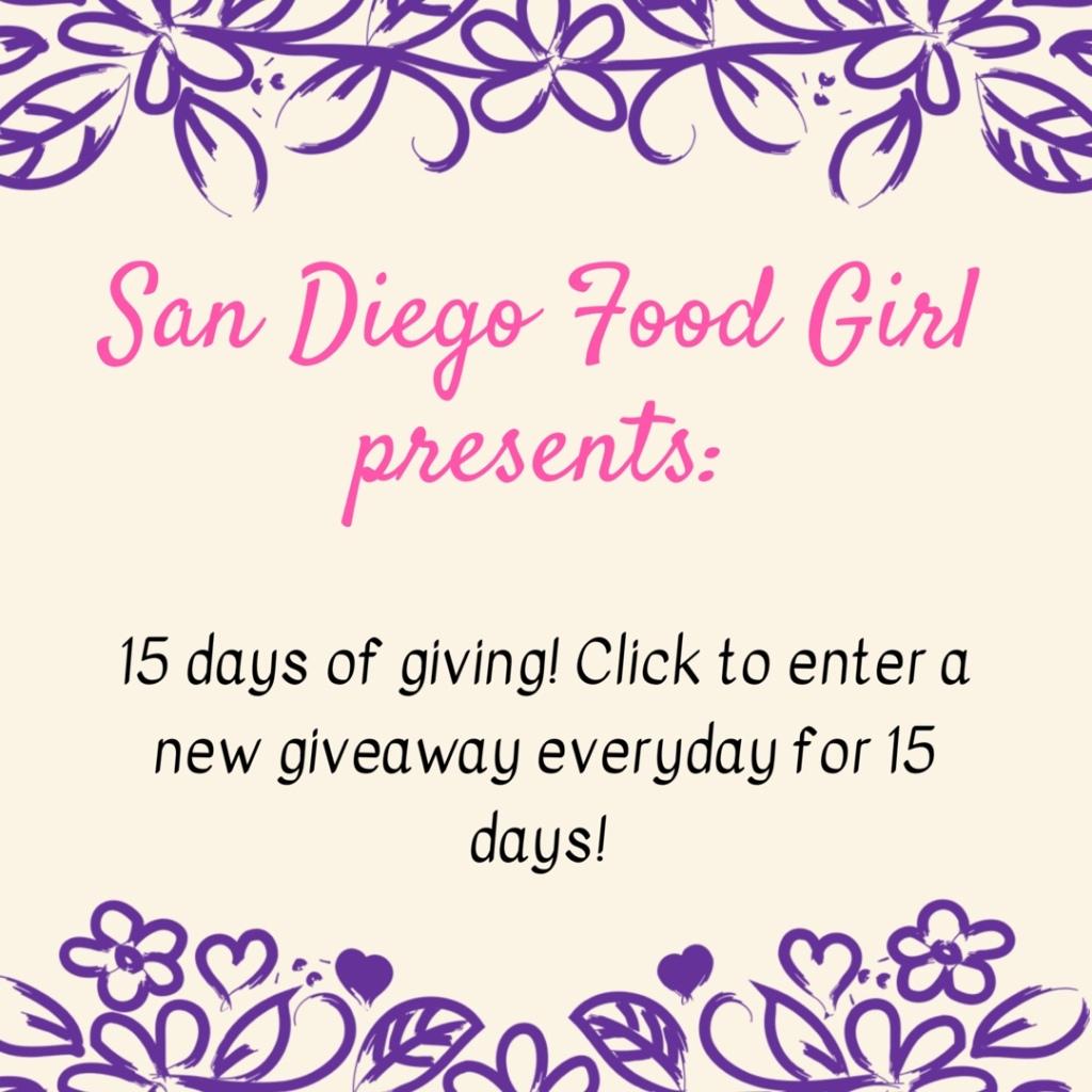 sandiegofoodgirl giveaway